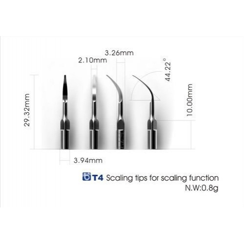 3Pcs Baola® Scaler Tip T4 EMS/Woodpecker