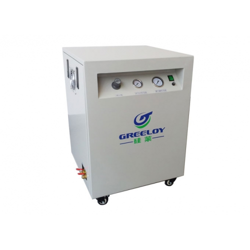 Greeloy® Oil Free Air Compressor One By Two GA-81XY With Drier and Silent Cabinet