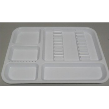 White Dental Instrument Tray