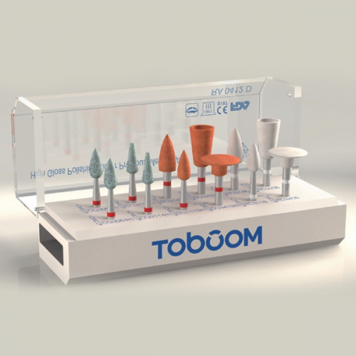 Toboom® RA0112D Polishing Kit for Zirconia 12pcs