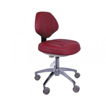 QY® QY90G-1 Doctor Stool Adjustable Mobile Operatory Chair Leather