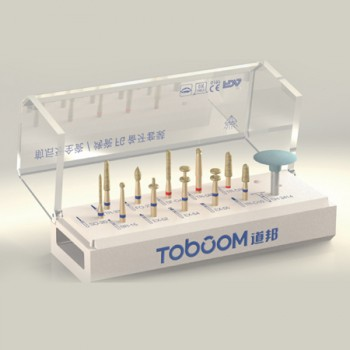 Toboom® 12pcs Burs for Ceramic Crown Anterior Teeth and Molars Preparation
