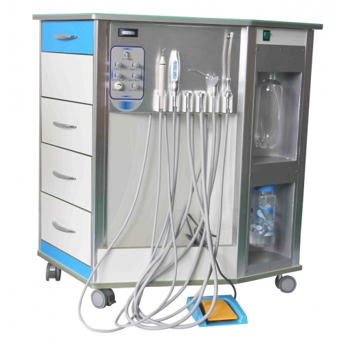 Best Mobile Dental Delivery Unit System All-in-One+Air Compressor+Cabinet+Drawer 4/2H