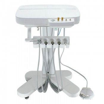 Dental Unit Mobile Delivery Cart Separate Water Air Controlling by Handpiece