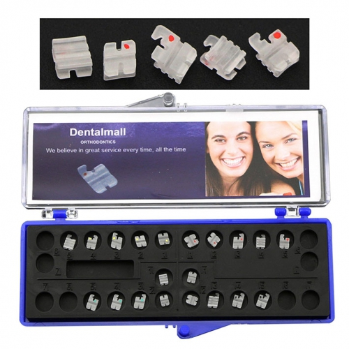 Dental Orthodontic Ceramic Brackets Braces Slot Roth 022 345 Hooks