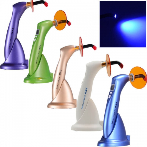 Dental LED Curing Cure Lamp light Wireless Cordless 1500mw for Dentist 5 Color