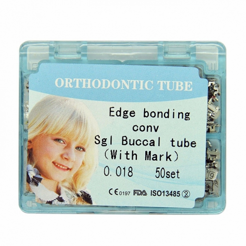 50 Kits Orthodontic Direct Bond Edgewise 018 Convertible 1st Molar Buccal Tubes
