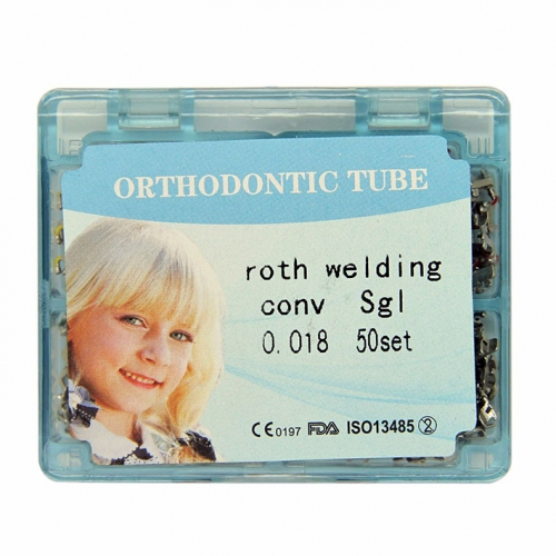 50 Kits Dental Orthodontic Roth Weldable Convertible Buccal Tubes Slot 018