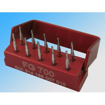 1Box Dental SBT Cross-cut Taper Tungsten Carbide Steel Drills/Burs FG700 1.6mm