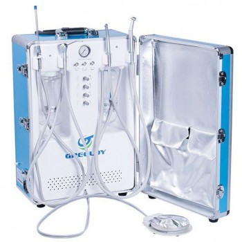 Greeloy GU-P204S Portable Dental Unit (Compressor+ Suction+ Triplex Syringe+ HP ...