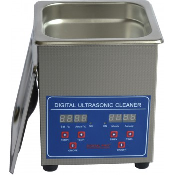 2L Capacity Dental Stainless Steel Ultrasonic Cleaner Digital Control JPS-10A