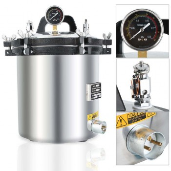 18L High Pressure Steam Sterilizer Medical Dental Tattoo Autoclave Sterilization