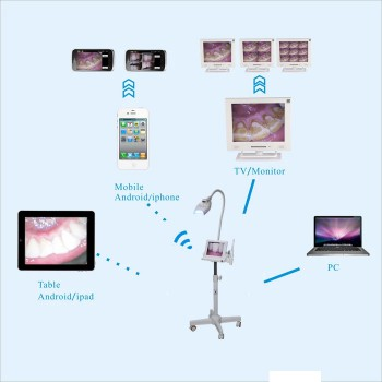 MLG® 8 inch LCD Monitor Teeth Whitening + Intraoral Camera M-86 Trolley-type With SD Card