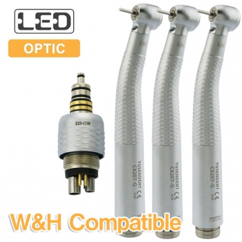 YUSENDENT® CX207-GW-PQ Fiber Optic Handpiece W&H Compatible (With Coupler x1+ Without Coupler x2)