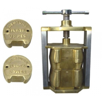 Dental Laboratory Upper Lower Denture Flask Set made of Brass