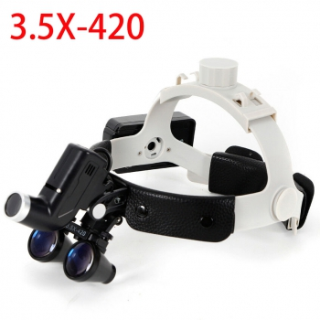 3.5X 5W Dental LED Surgical Medical Headband Loupe with Light for Otolaryngology