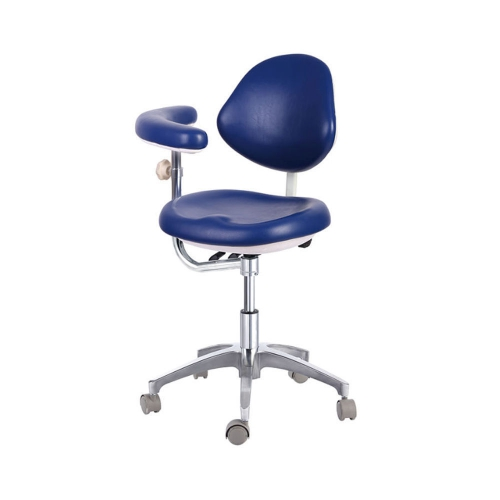 Dental Medical Stools Doctors Stools Adjustable Mobile Chair PU QY600 Dark Blue
