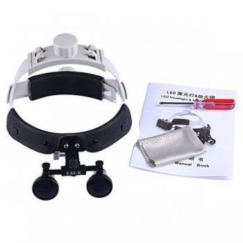 3.5X Dental Headband Binocular Loupes Surgical Loupes Magnifier DY-108