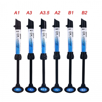 5Pcs Dental Light Curing Composite Resin Refill Syringe Dentex A1 A2 A3 A3.5 B1 ...