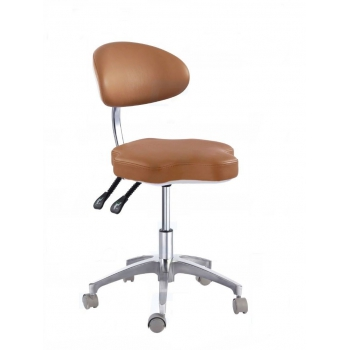 Medical Dental Mobile Chair Doctor's Stools with Backrest PU Leather QY90B