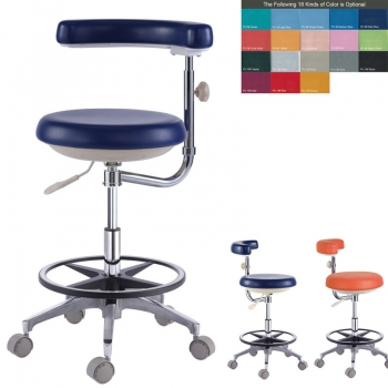 18 Colors PU Leather Dental Doctor Dentist Assistant Nurse Stool Chair QY500(N)