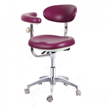 PU Leather Dental Medical Chair Doctor's Stool Nurse's Chair Adjustable QY600-1