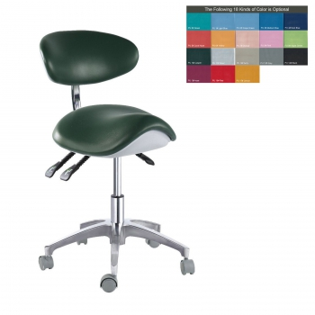 PU Leather Medical Dental Dentist Saddle Chair Adjustable Mobile Doctors'Stool Q...