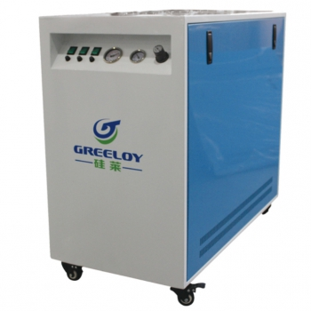 Greeloy GA-63XY Ultra Quiet 90L Dental Air Compressor with Drier and Silent Cabi...