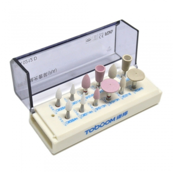 12Pcs/1Kit Dental High Gloss Polishing Kit For Zirconia RA0212D