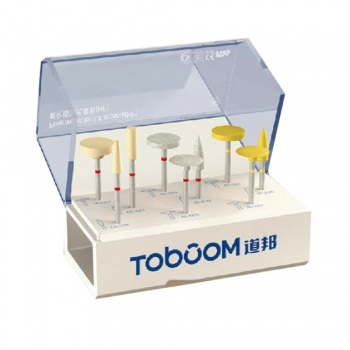 Toboom Dental High Gloss Polishing Kit For Zirconia HP0109D 9Pcs/1Kit