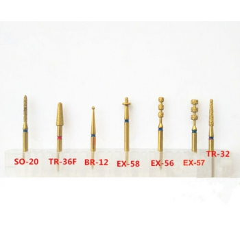 7Pcs Dental Preparation Burs Porcelain Veneer Dental Burs