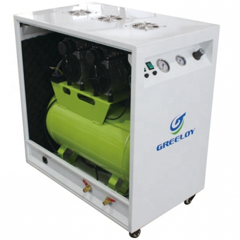 Greeloy® GA-82X Dental Oilless Air Compressor With Silent Cabinet