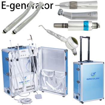 Greeloy® GU-P206 Portable Unit + E-generator Turbine Handpiece + Low Speed Handp...