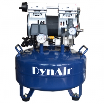 DYNAIR DA5001 22L Dental Air Compressor Noiseless Oilless 550W 1-Driving-1 Stable