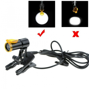 Dental Medical 5W LED Head Light with Filter Clip-on Headlight for Glasses Black