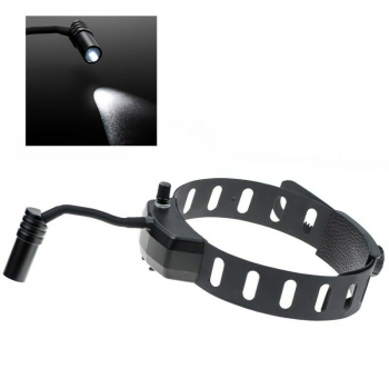 Dental Wireless 5W LED Headlight ENT Medical Headband Head Light Lamp Black