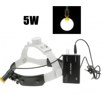 Dental Medical 5W LED Head Light w/ Filter Headband Headlamp ENT Oral Gynecology