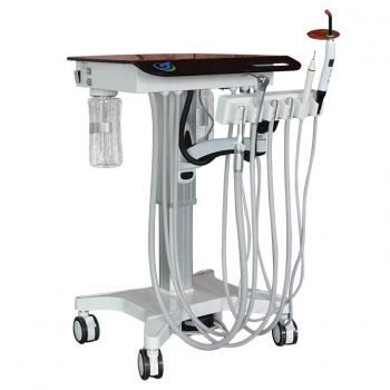 Greeloy GU-P302S Dental Movable Adjusted Treatment Unit Cart+Ultrasonic Scaler + Air Comprssor GU-P300
