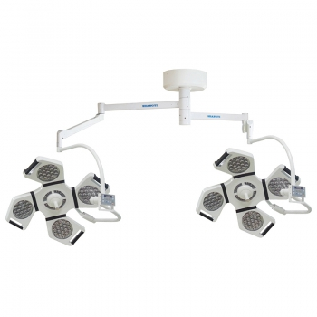 HFMED YD02-LED4+4 LED Shadowless Operating Lamp Dental Surgical Light Lamp Ceiling Mounted