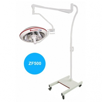 HFMED ZF500S Clinic Halogen Operation Reflector Shadowless Lamp Mobile Surgical Lamp