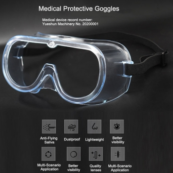 5Pcs Medical Protective Goggles Safety Goggles with Clear Anti Fog Lenses