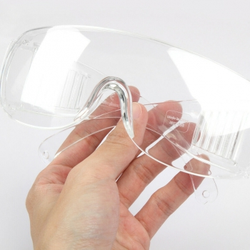 10Pcs Clear Safety Goggles Glasses Anti Fog Lens Work Lab Protective Chemical