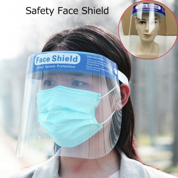 10Pcs High-definition Transparent Anti-Saliva Windproof Dustproof Hat Full Face Protective Cap Anti-Fog Face Shield