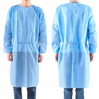 10pcs Disposable Bandage Coveralls Surgical Gown Dust-proof Isolation Clothes Labour Suit Non-woven Security Protection