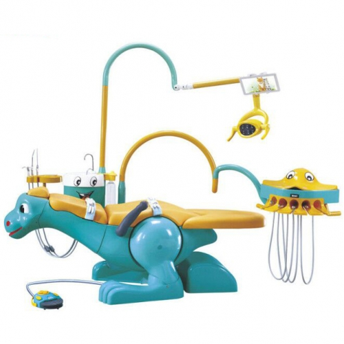 Pediatric Dental Unit Chair Lovely Dinosaur Chair for Children with 2 Dentist Stools A8000-IIA
