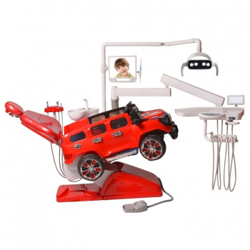 Lovely Car Design Pediatric Dental Chair Dental Chair Unit for Kids CE Approved Q1