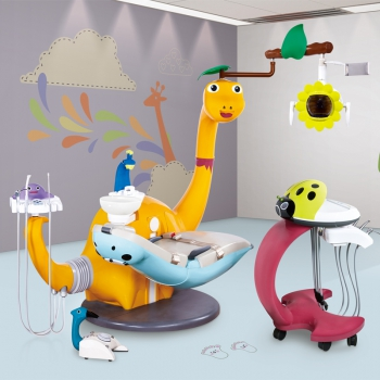 Lovely Pediatric Dental Chair Dinosaur Children Dental Unit CE Approved BS-AYC5