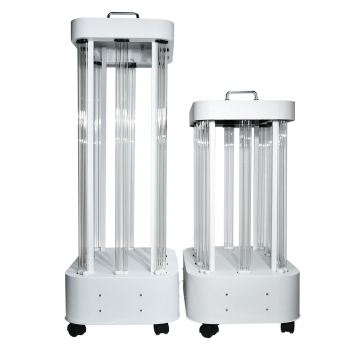 1000-1500W UVc Ozone Sterilizer Germicidal Lamp Professional UVC Light Sterilization Trolley