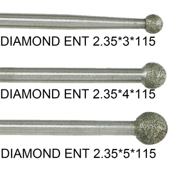 Dental Diamond ENT Cuting Burs Surgery Used With COXO CX235-2S1/2S2