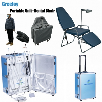 Greeloy GU-P206 Dental Portable Unit + GU-P101 Dental Chair + Storage Bag Kit